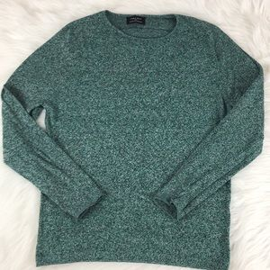 Zara Men's Green Marled Sweater